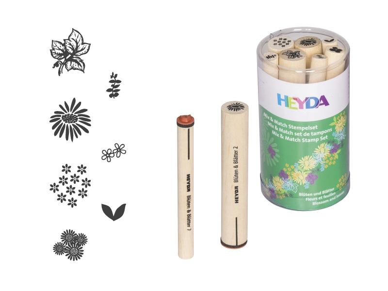 Razítka - květy a listy