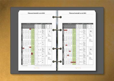 Chytrá náplň do diáře A5 - Plánovací kalendář