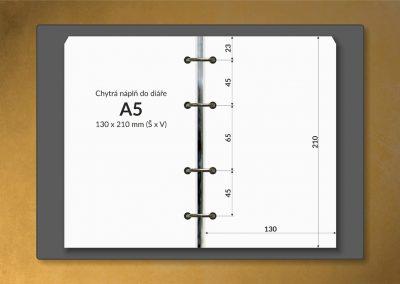 Chytrá náplň do diáře A5 130x210 mm