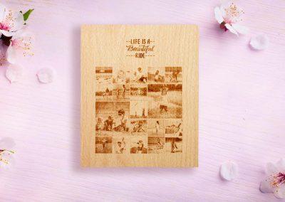 Dřevěná dárková krabička na diář