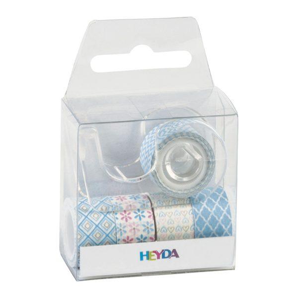 Sada 5 washi pásek – modré