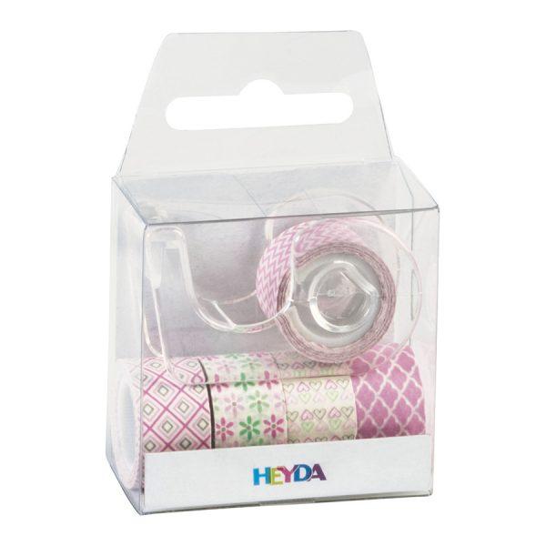 Sada 5 washi pásek – růžové