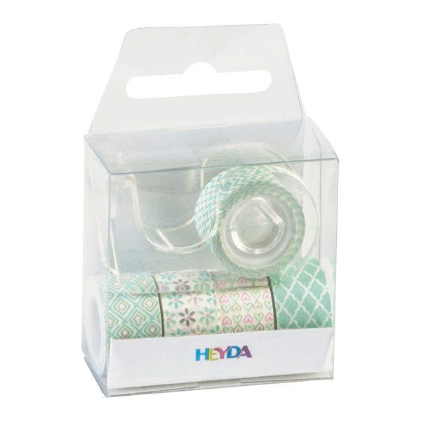 Sada 5 washi pásek – zelené